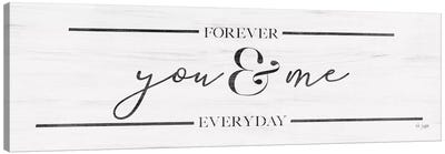 You & Me Canvas Art Print