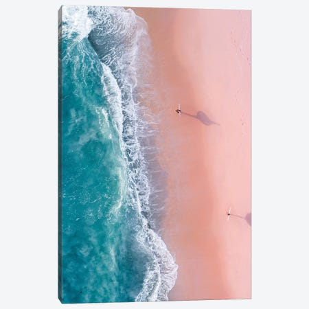Sunset Surfers Canvas Print #JXR56} by Jaxon Roberts Canvas Artwork