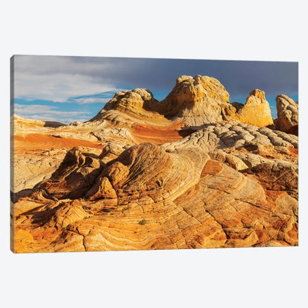 Usa, Arizona, Vermilion Cliffs National Monument. Striations In Sandstone Formations. Canvas Print #JYG1001} by Jaynes Gallery Canvas Print