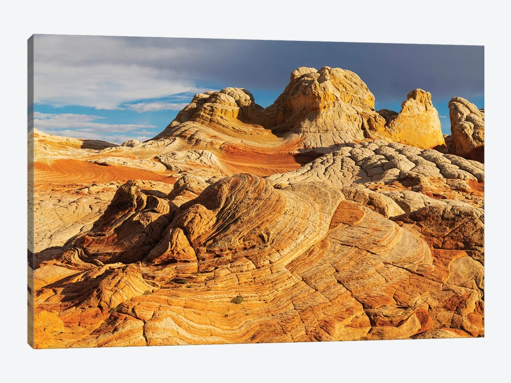 Usa, Arizona, Vermilion Cliffs National Monument. Striations In Sandstone Formations. by Jaynes Gallery 1-piece Canvas Wall Art