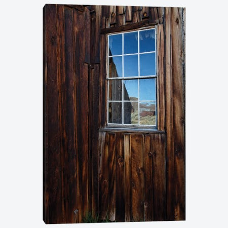 Usa, California, Bodie State Historic Park. Weathered Window In Abandoned Town. Canvas Print #JYG1004} by Jaynes Gallery Canvas Art
