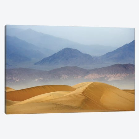 Usa, California, Death Valley National Park. Sand Dunes On Stormy Day. Canvas Print #JYG1006} by Jaynes Gallery Canvas Wall Art