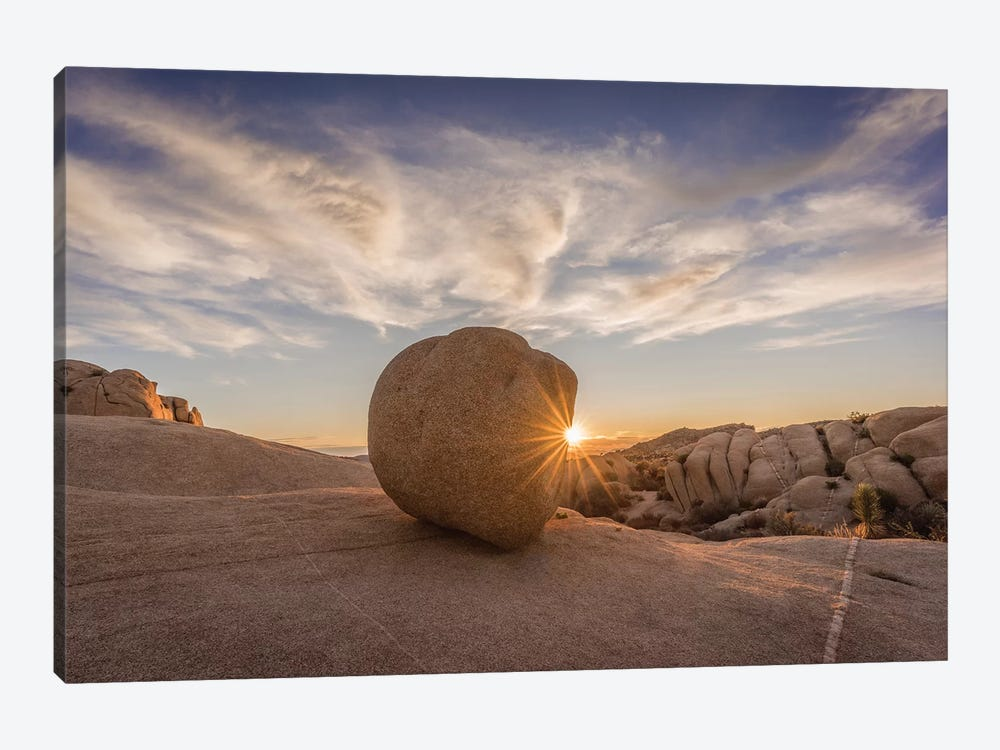 Usa, California, Joshua Tree National Park. Rocky Landscape At Sunset. by Jaynes Gallery 1-piece Canvas Wall Art