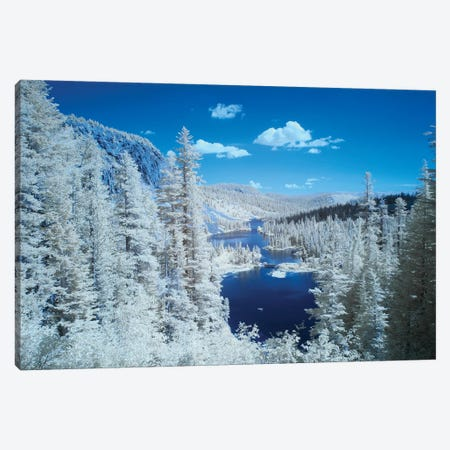 USA, California, Mammoth Lakes. Infrared overview of Twin Lakes. Canvas Print #JYG100} by Jaynes Gallery Canvas Artwork