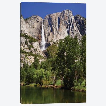 Usa, California, Yosemite National Park. Yosemite Falls And Merced River Landscape. Canvas Print #JYG1033} by Jaynes Gallery Canvas Wall Art