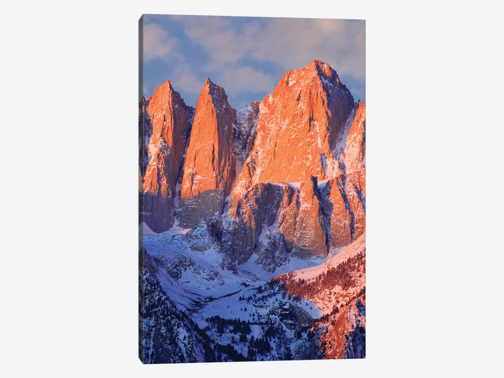 USA, California, Mt. Whitney. Mountain landscape in winter. by Jaynes Gallery 1-piece Canvas Wall Art