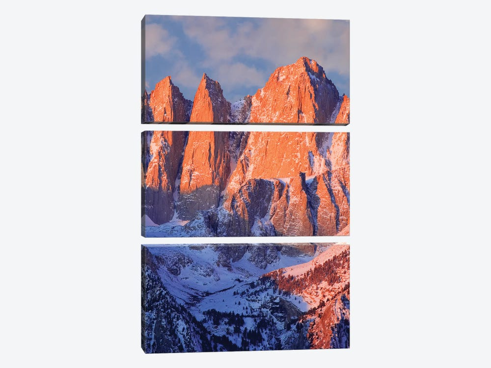USA, California, Mt. Whitney. Mountain landscape in winter. by Jaynes Gallery 3-piece Canvas Wall Art