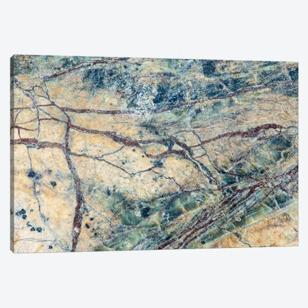 Usa, California. Detail Of Cut Slab Of Marble Rock. Canvas Print #JYG1040} by Jaynes Gallery Art Print