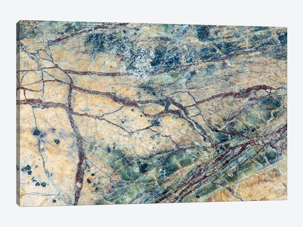 Usa, California. Detail Of Cut Slab Of Marble Rock. by Jaynes Gallery 1-piece Canvas Print
