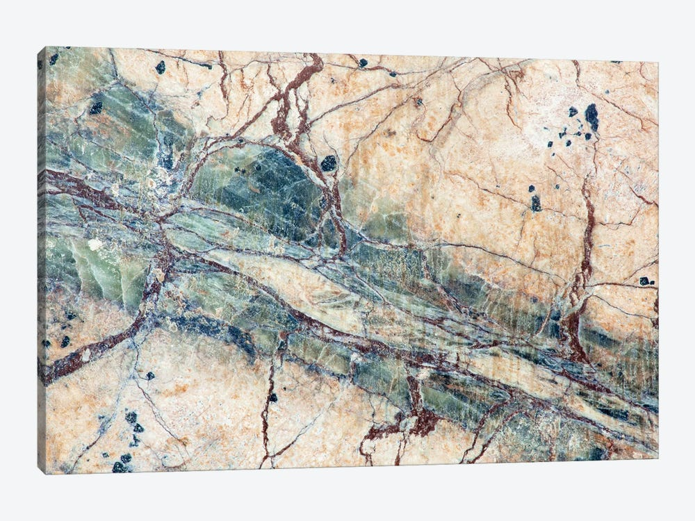 Usa, California. Detail Of Cut Slab Of Marble Rock. by Jaynes Gallery 1-piece Canvas Wall Art