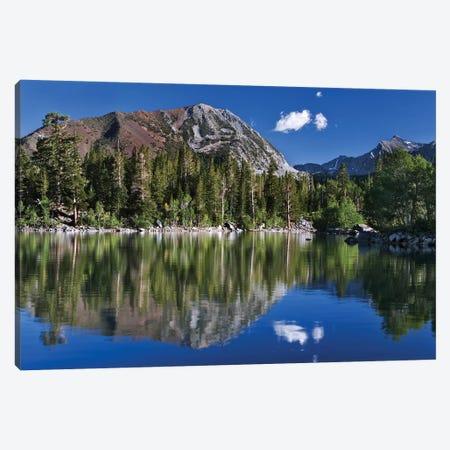 Usa, California. Reflections In Sherwin Lake. Canvas Print #JYG1045} by Jaynes Gallery Canvas Wall Art