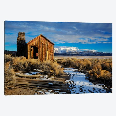 Usa, California. Ruins Of Cowboy'S Cabin In Adobe Valley. Canvas Print #JYG1047} by Jaynes Gallery Canvas Art
