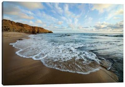 USA, California, San Diego. Beach at Sunset Cliffs Park. Canvas Art Print