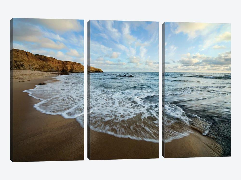 USA, California, San Diego. Beach at Sunset Cliffs Park. by Jaynes Gallery 3-piece Art Print
