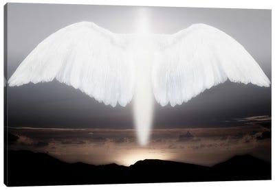 Artistic creation of angel or spirit Canvas Art Print