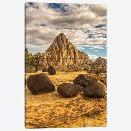 USA, Utah, Capitol Reef National Park. Pectols Pyramid in autumn. Canvas Print #JYG1065} by Jaynes Gallery Canvas Art