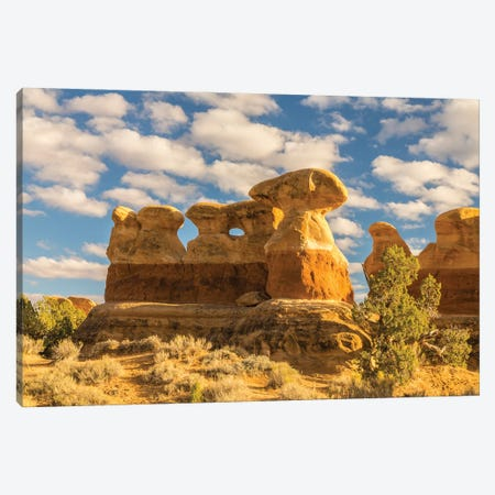 USA, Utah, Grand Staircase-Escalante National Monument. The Devil's Garden rock formation. 3-Piece Canvas #JYG1068} by Jaynes Gallery Art Print
