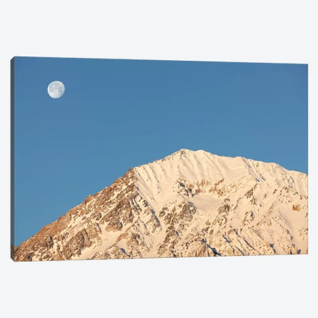 USA, California, Sierra Nevada Mountains. Moonset behind Mt. Tom. Canvas Print #JYG109} by Jaynes Gallery Canvas Artwork