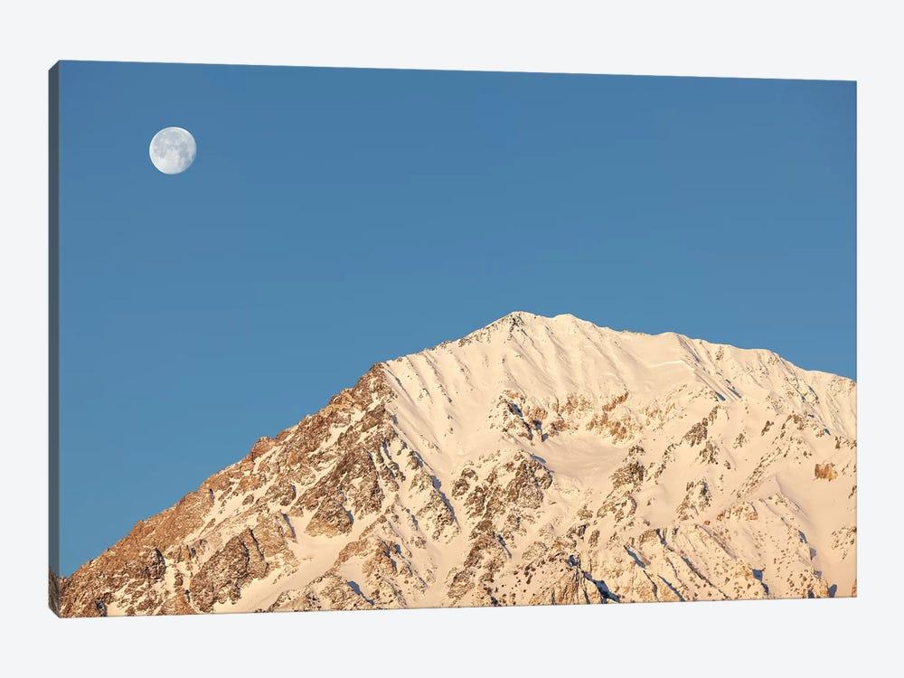 USA, California, Sierra Nevada Mountains. Moonset behind Mt. Tom. by Jaynes Gallery 1-piece Canvas Artwork