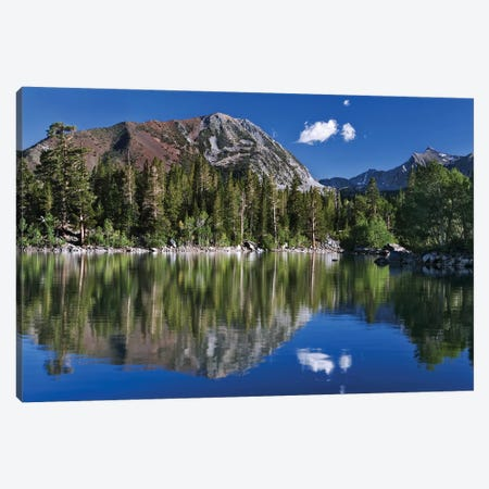 USA, California, Sierra Nevada Mountains. Sherwin Lake reflects mountains. Canvas Print #JYG110} by Jaynes Gallery Canvas Print
