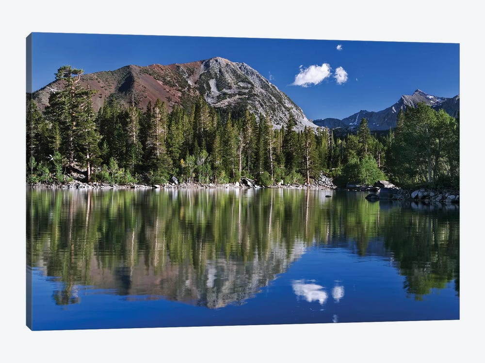 USA, California, Sierra Nevada Mountains. Sherwin Lake reflects mountains. by Jaynes Gallery 1-piece Canvas Artwork