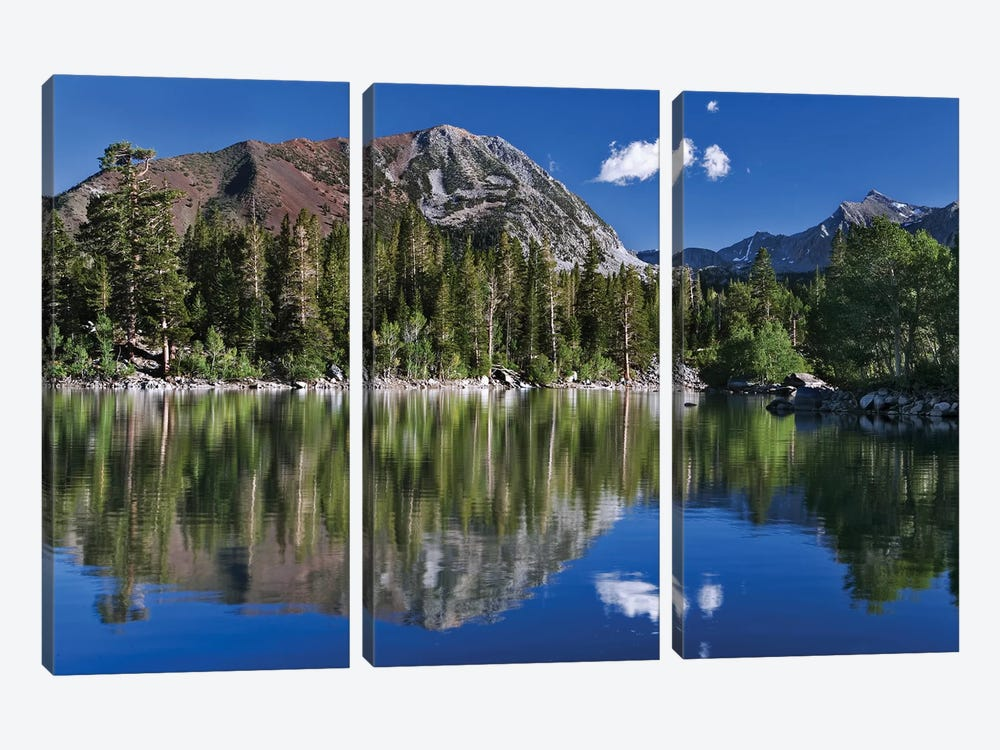 USA, California, Sierra Nevada Mountains. Sherwin Lake reflects mountains. by Jaynes Gallery 3-piece Canvas Artwork