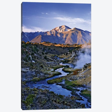 USA, California, Sierra Nevada Mountains. Sunrise on geothermal area of Hot Creek. Canvas Print #JYG111} by Jaynes Gallery Canvas Art Print
