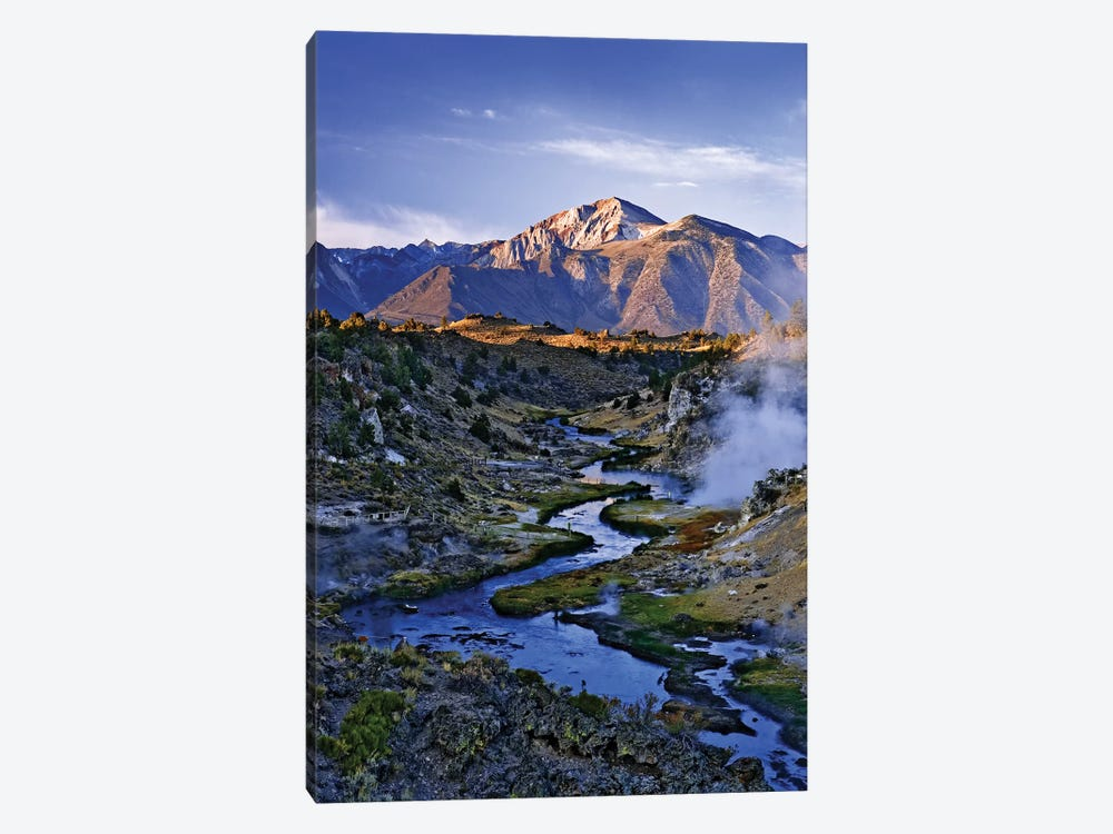 USA, California, Sierra Nevada Mountains. Sunrise on geothermal area of Hot Creek. by Jaynes Gallery 1-piece Art Print