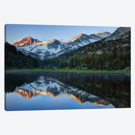USA, California, Sierra Nevada Range. Reflections in Heart Lake. Canvas Print #JYG113} by Jaynes Gallery Art Print