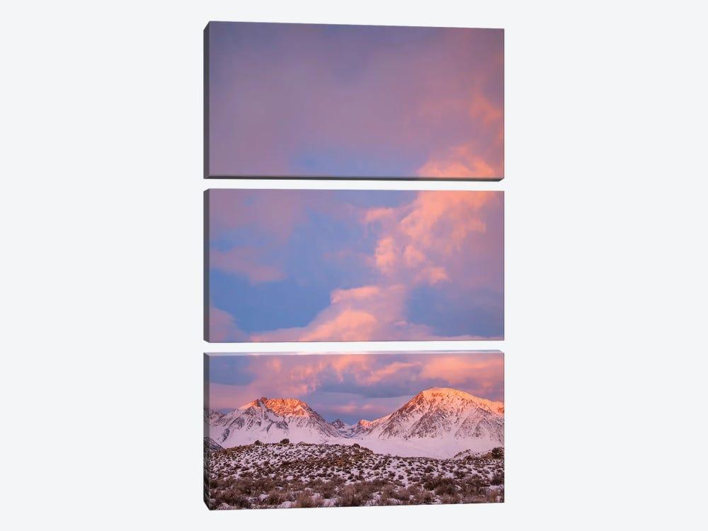USA, California, Sierra Nevada Range. Sunrise on mountains I by Jaynes Gallery 3-piece Canvas Artwork