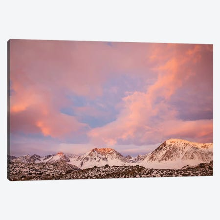 USA, California, Sierra Nevada Range. Sunrise on mountains II Canvas Print #JYG115} by Jaynes Gallery Canvas Artwork