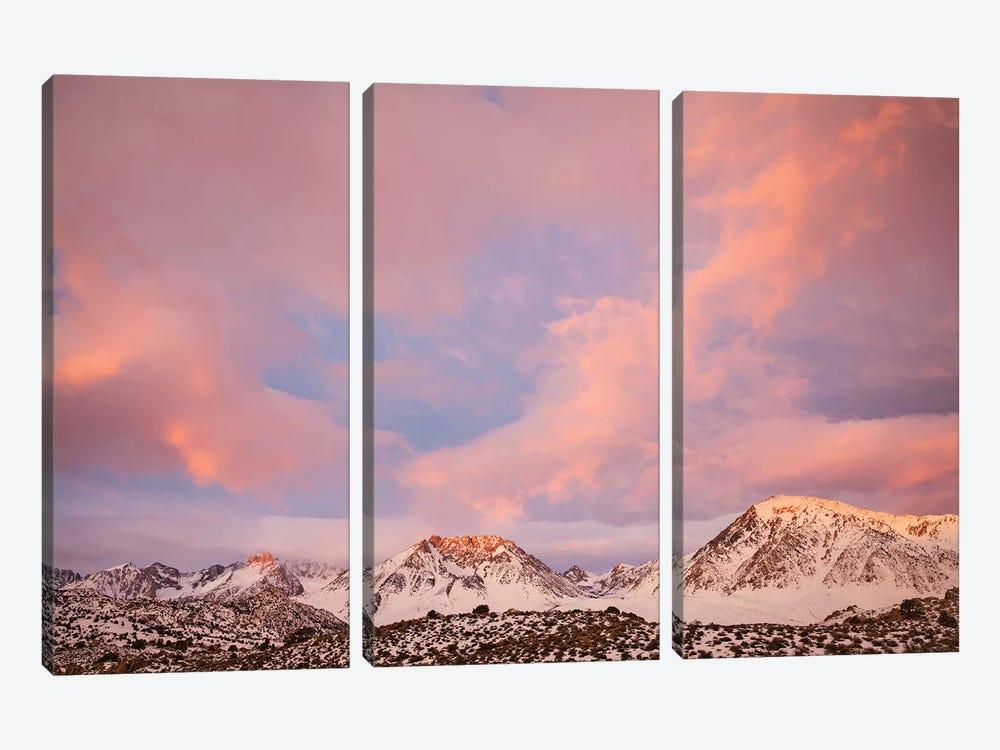 USA, California, Sierra Nevada Range. Sunrise on mountains II by Jaynes Gallery 3-piece Canvas Art Print