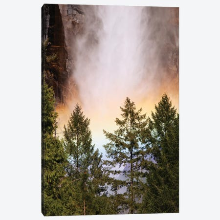 USA, California, Yosemite National Park. Rainbow at base of Yosemite Falls. Canvas Print #JYG120} by Jaynes Gallery Canvas Wall Art