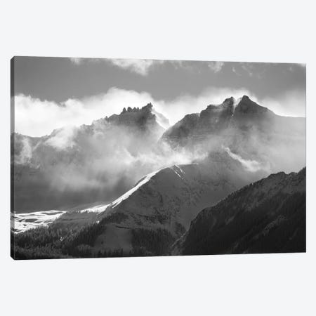 USA, Colorado, San Juan Mountains. Black and white of winter mountain landscape. Canvas Print #JYG128} by Jaynes Gallery Canvas Art