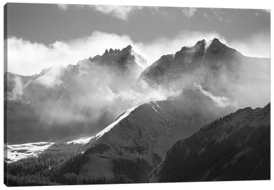 USA, Colorado, San Juan Mountains. Black and white of winter mountain landscape. Canvas Art Print