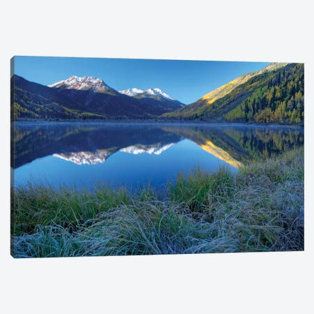 USA, Colorado, San Juan Mountains. Frosty morning at Crystal Lake. Canvas Print #JYG129} by Jaynes Gallery Canvas Art