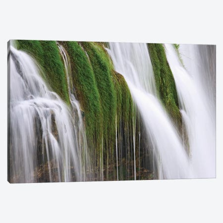USA, Idaho, Fall Creek Waterfalls in Caribou National Forest. Canvas Print #JYG135} by Jaynes Gallery Canvas Wall Art