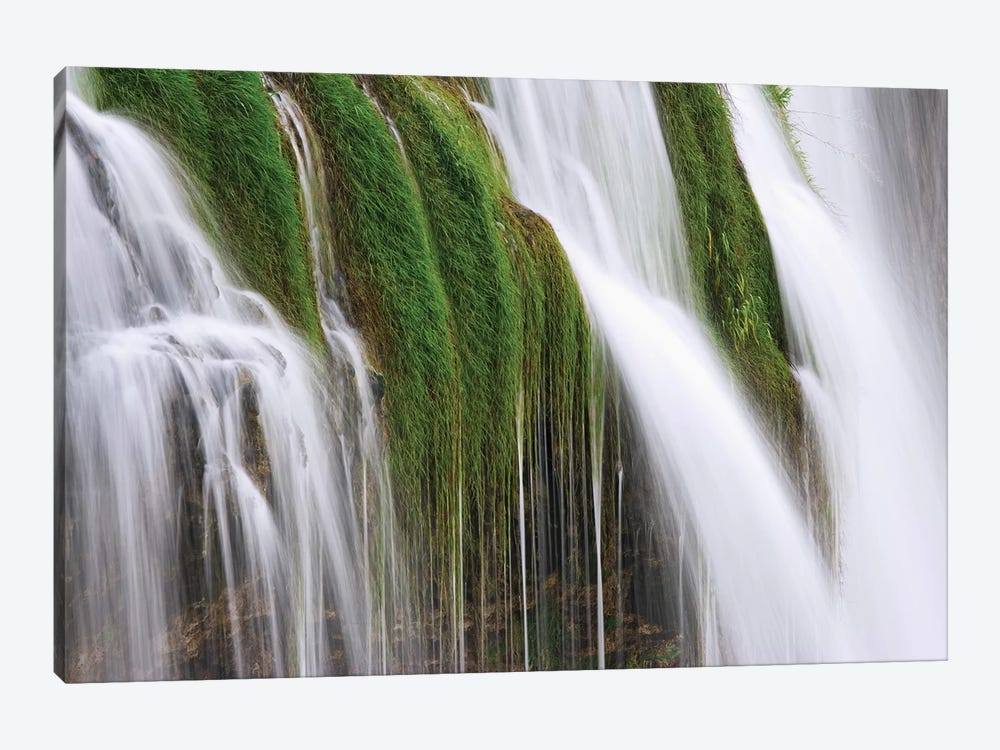 USA, Idaho, Fall Creek Waterfalls in Caribou National Forest. by Jaynes Gallery 1-piece Canvas Art Print