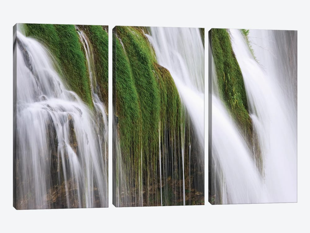 USA, Idaho, Fall Creek Waterfalls in Caribou National Forest. by Jaynes Gallery 3-piece Canvas Art Print