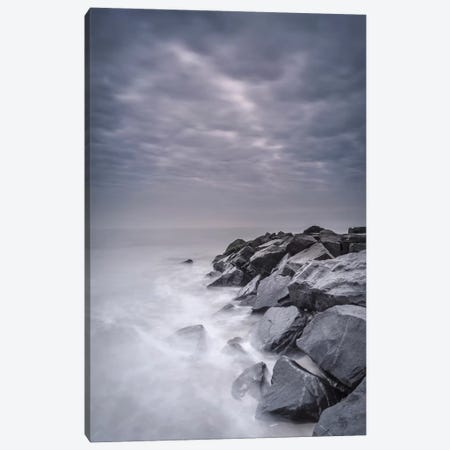 USA, New Jersey, Cape May National Seashore. Stormy shoreline landscape. Canvas Print #JYG137} by Jaynes Gallery Canvas Art