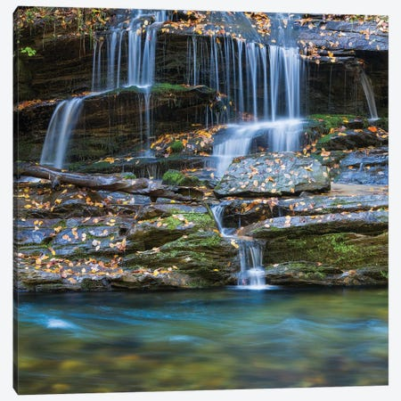 USA, North Carolina, Great Smoky Mountains. Scenic of Tom Branch Falls. Canvas Print #JYG138} by Jaynes Gallery Canvas Art Print