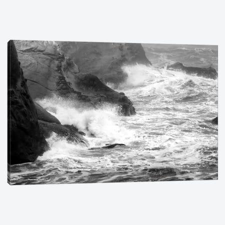 USA, Oregon, Bandon. Storm waves on coast. Canvas Print #JYG140} by Jaynes Gallery Canvas Art
