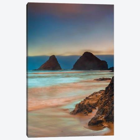 USA, Oregon, Florence. Sunrise on Heceta Beach. Canvas Print #JYG142} by Jaynes Gallery Canvas Art