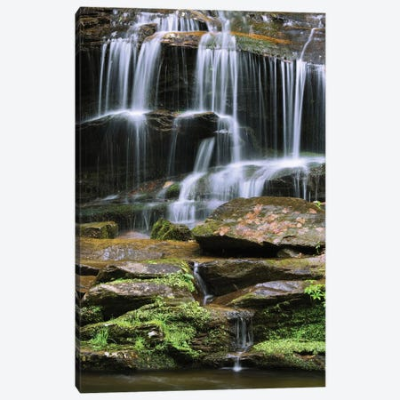 USA, Tennessee, Great Smoky Mountains National Park. Waterfall. Canvas Print #JYG153} by Jaynes Gallery Art Print