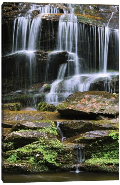 USA, Tennessee, Great Smoky Mountains National Park. Waterfall. Canvas Art Print