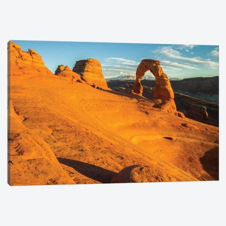 USA, Utah, Arches National Park. Landscape with Delicate Arch. Canvas Print #JYG154} by Jaynes Gallery Canvas Wall Art