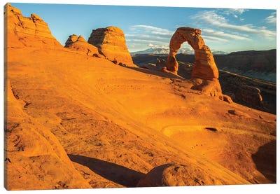 USA, Utah, Arches National Park. Landscape with Delicate Arch. Canvas Art Print
