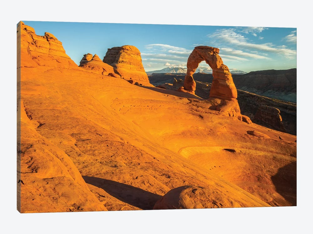 USA, Utah, Arches National Park. Landscape with Delicate Arch. by Jaynes Gallery 1-piece Canvas Art