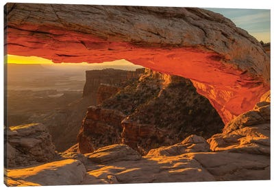 USA, Utah, Canyonlands National Park. Mesa Arch at sunrise. Canvas Art Print