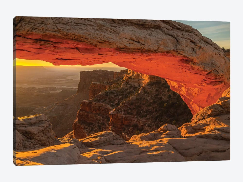 USA, Utah, Canyonlands National Park. Mesa Arch at sunrise. by Jaynes Gallery 1-piece Art Print